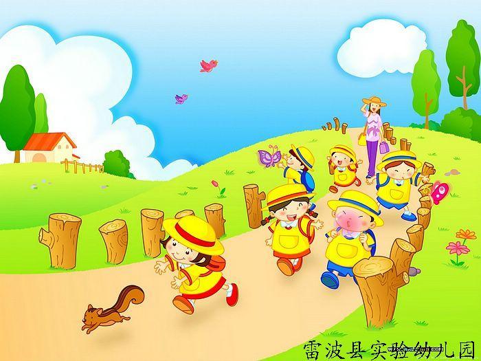 国庆儿童水彩画