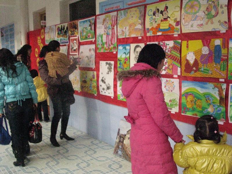 """市幼儿园举行""""迎三八""""教师书画作品展示活动"""
